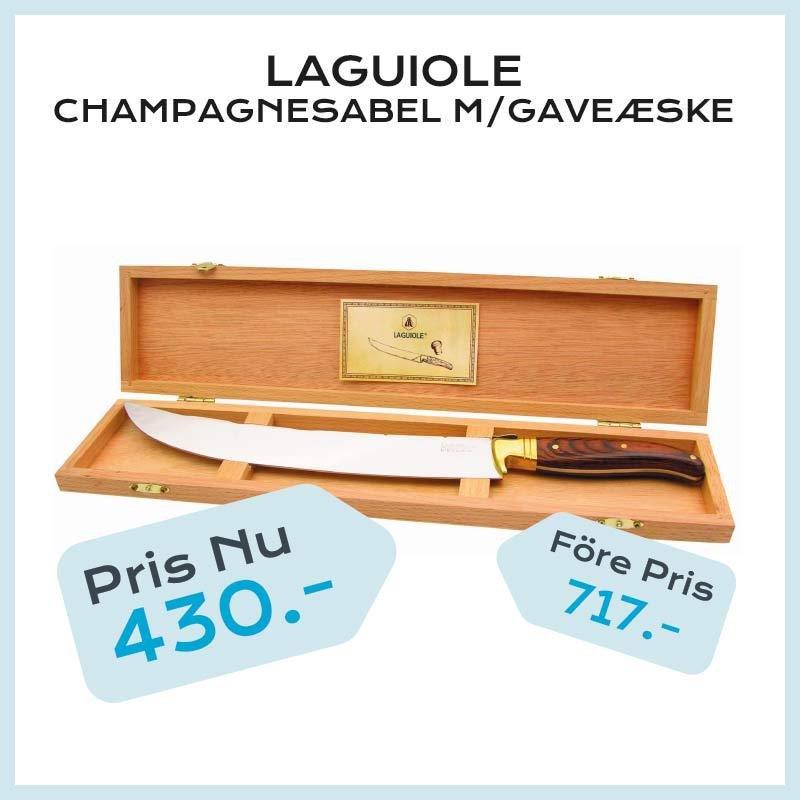Laguiole champagnesabel m/gaveæske