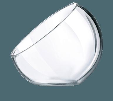 Glas skål 4 cl Versatile skrå