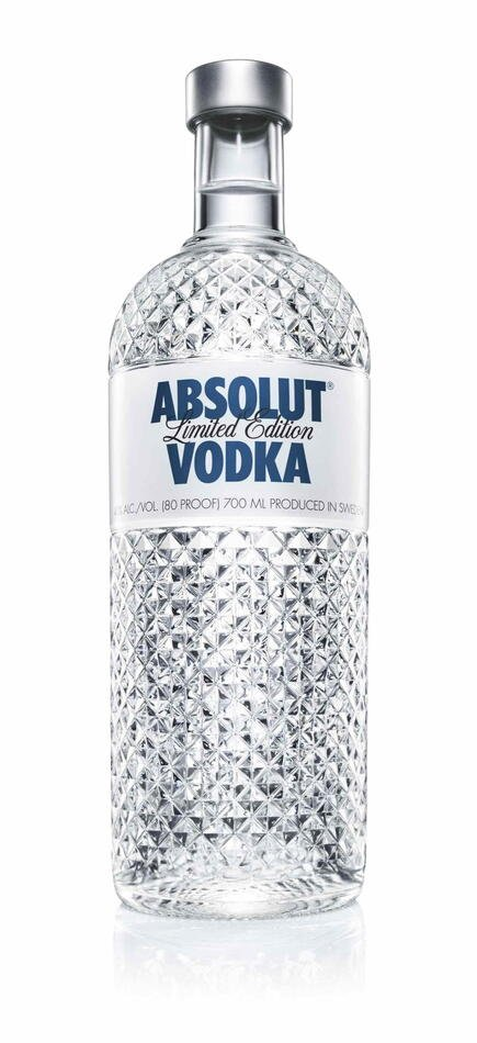 "Absolut Vodka Special Edition ""Glimmer"" FL 175"