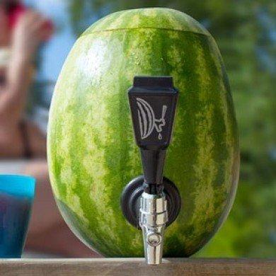 Hvordan lage en drinkdispenser av en vannmelon