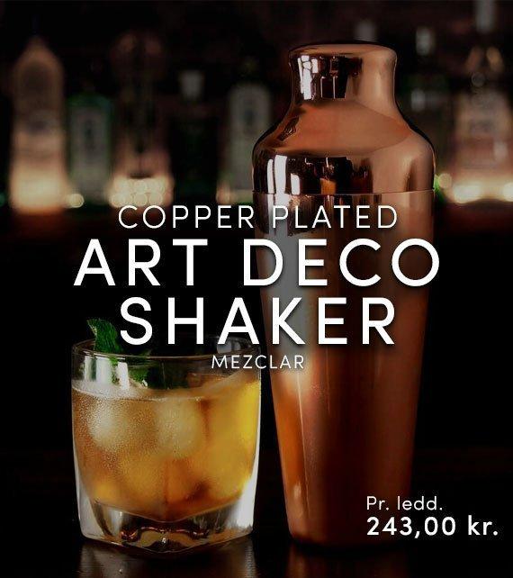 ART DECO SHAKER COPPER PLATED - MEZCLAR