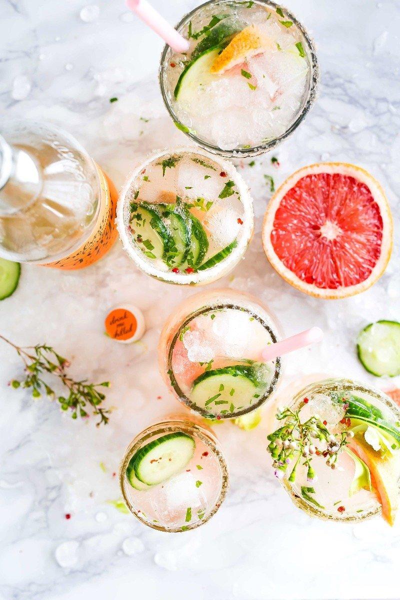 smukke lyserøde drinks